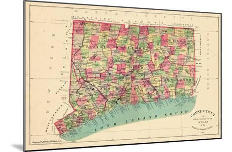 1893, Connecticut State Map, Connecticut, United States--Mounted Giclee Print