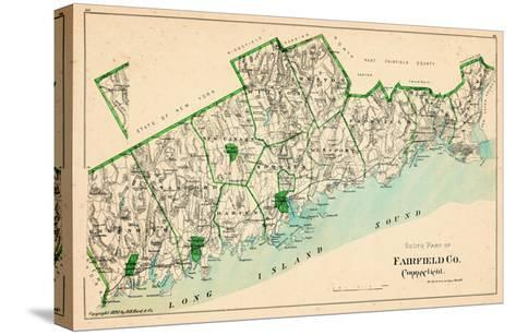 1893, Fairfield County - South Part, Connecticut, United States--Stretched Canvas Print