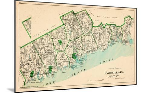 1893, Fairfield County - South Part, Connecticut, United States--Mounted Giclee Print