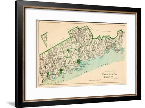 1893, Fairfield County - South Part, Connecticut, United States--Framed Art Print