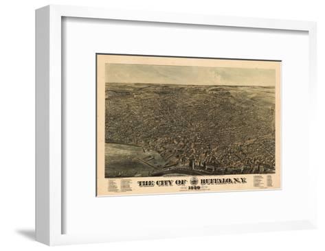 Buffalo 1880 Bird's Eye View, New York, United States--Framed Art Print