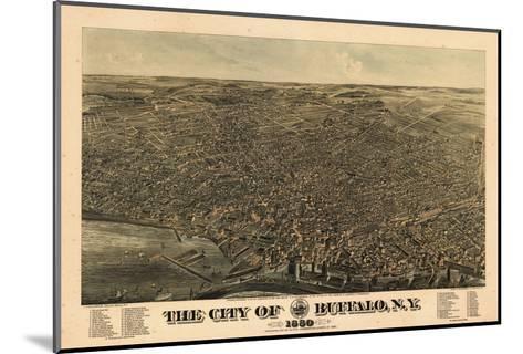 Buffalo 1880 Bird's Eye View, New York, United States--Mounted Giclee Print