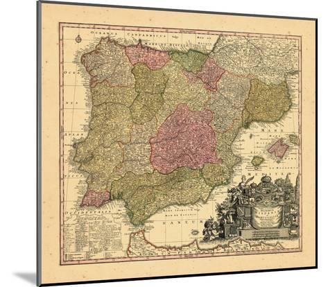 1740, Portugal, Spain--Mounted Giclee Print