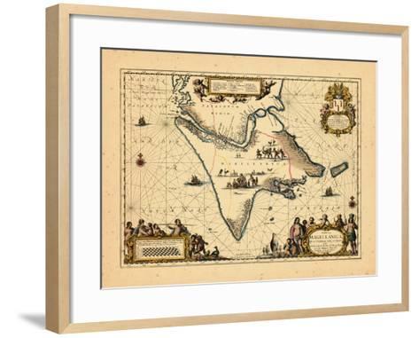 1658, Argentina, Chile--Framed Art Print