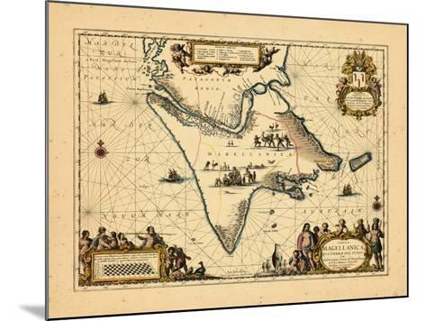 1658, Argentina, Chile--Mounted Giclee Print