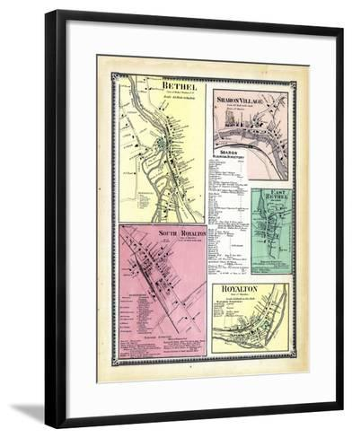 1869, Bethel, Sharon Village, Royalton South, Bethel East, Royalton Town, Vermont, United States--Framed Art Print