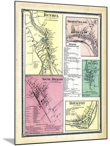 1869, Bethel, Sharon Village, Royalton South, Bethel East, Royalton Town, Vermont, United States--Mounted Giclee Print