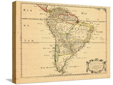 1650, South America--Stretched Canvas Print