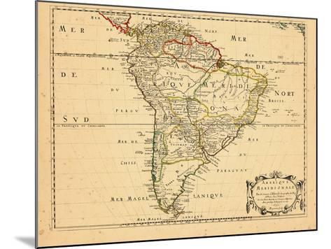 1650, South America--Mounted Giclee Print