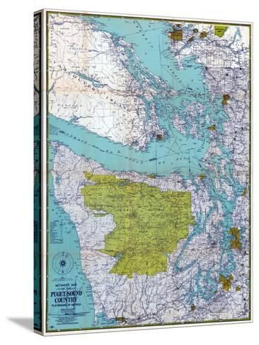 1940, Puget Sound Country 1940c, Washington, United States--Stretched Canvas Print