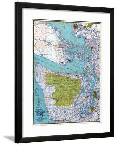 1940, Puget Sound Country 1940c, Washington, United States--Framed Art Print