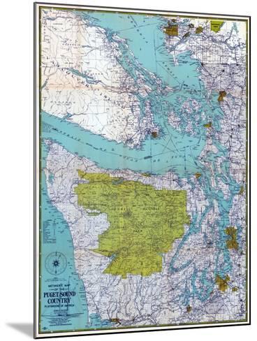 1940, Puget Sound Country 1940c, Washington, United States--Mounted Giclee Print