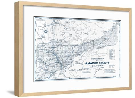 1950, Amador County 1950c, California, United States--Framed Art Print