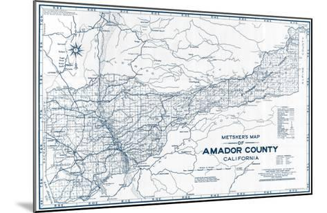 1950, Amador County 1950c, California, United States--Mounted Giclee Print