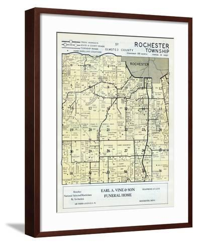 1956, Olmsted County - Rochester Township, Minnesota, United States--Framed Art Print