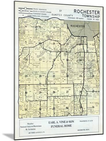1956, Olmsted County - Rochester Township, Minnesota, United States--Mounted Giclee Print