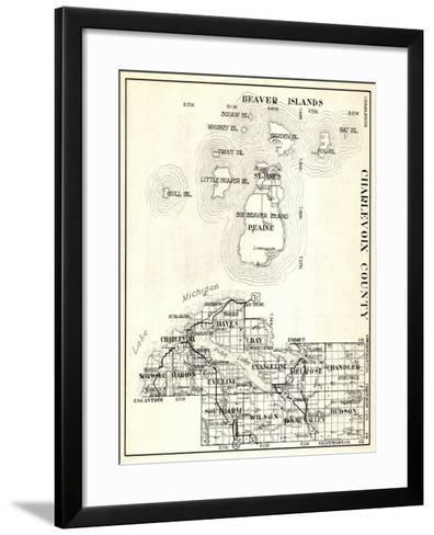 1930, Charlevoix County, St. James, Big Beaver Island, Peaine, Hayes, Evangeline, Chandler, Norwood--Framed Art Print