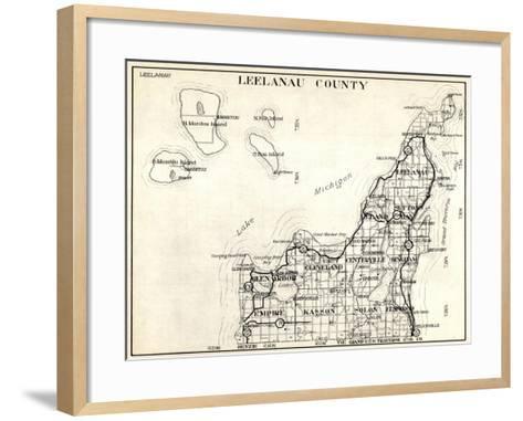 1930, Leelanau County, Empire, Kasson, Solon, Elmwood, Glen Arbor, Cleveland, Centerville, Bingham--Framed Art Print