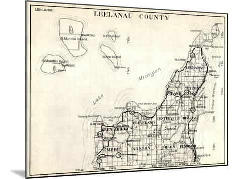 1930, Leelanau County, Empire, Kasson, Solon, Elmwood, Glen Arbor, Cleveland, Centerville, Bingham--Mounted Giclee Print