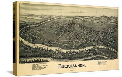 1900, Buckhannon Bird's Eye View, West Virginia, United States--Stretched Canvas Print