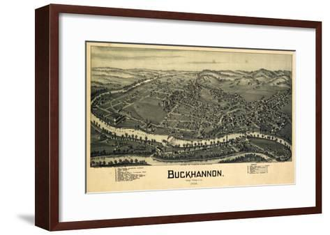 1900, Buckhannon Bird's Eye View, West Virginia, United States--Framed Art Print