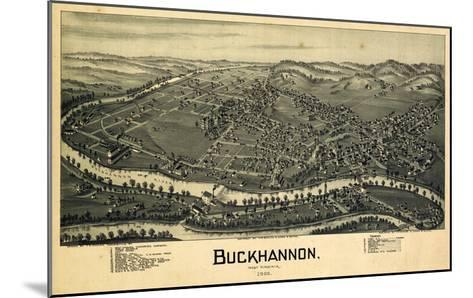 1900, Buckhannon Bird's Eye View, West Virginia, United States--Mounted Giclee Print