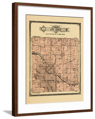 1915, Ann Arbor Township, Michigan, United States--Framed Art Print