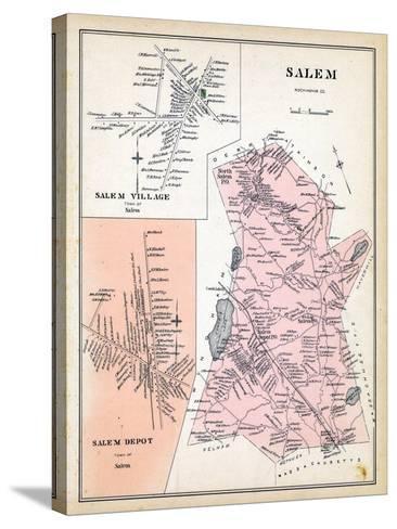 1892, Salem, Salem Village, Salem Depot, New Hampshire, United States--Stretched Canvas Print