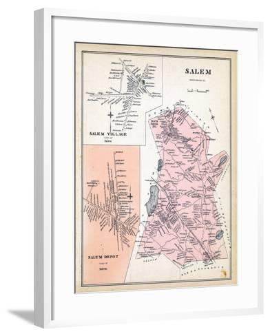 1892, Salem, Salem Village, Salem Depot, New Hampshire, United States--Framed Art Print