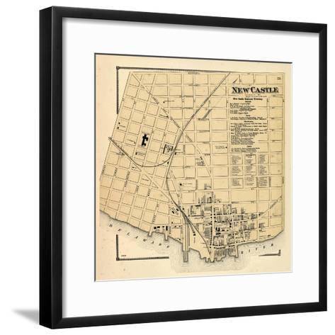1868, New Castle, Delaware, United States--Framed Art Print