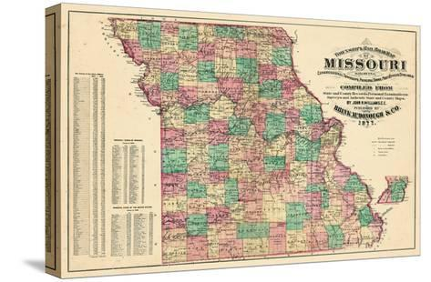 1877, State Map, Missouri, United States--Stretched Canvas Print
