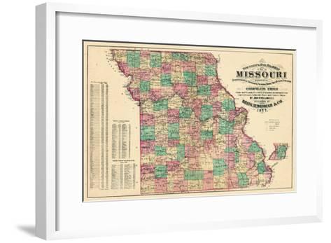 1877, State Map, Missouri, United States--Framed Art Print