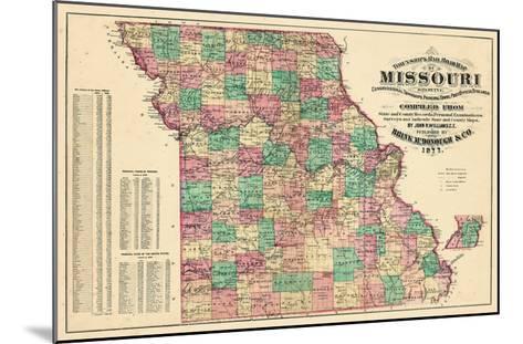 1877, State Map, Missouri, United States--Mounted Giclee Print