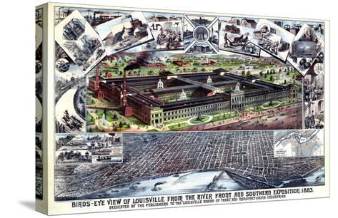 1883, Louisville Southern Exposition Bird's Eye View, Kentucky, United States--Stretched Canvas Print
