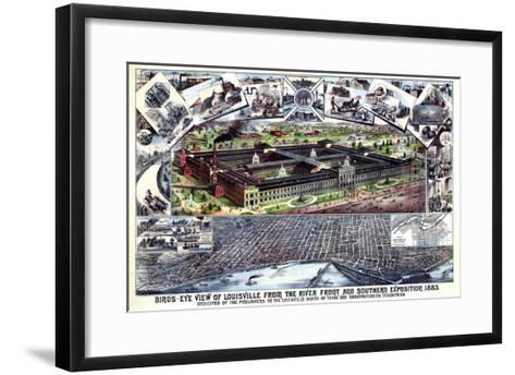 1883, Louisville Southern Exposition Bird's Eye View, Kentucky, United States--Framed Art Print