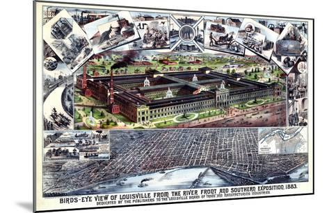 1883, Louisville Southern Exposition Bird's Eye View, Kentucky, United States--Mounted Giclee Print