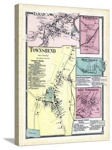 1869, Jamaica, Rawsonville, Townshend Town, Jamaica West, Townshend West, Vermont, United States--Stretched Canvas Print