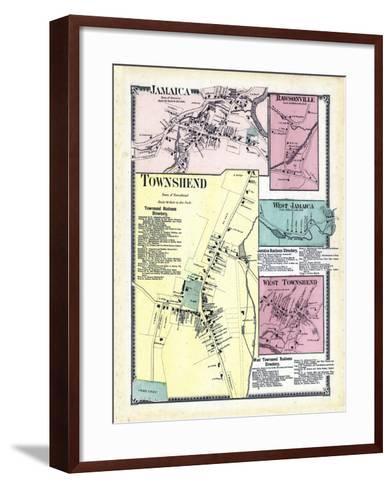 1869, Jamaica, Rawsonville, Townshend Town, Jamaica West, Townshend West, Vermont, United States--Framed Art Print
