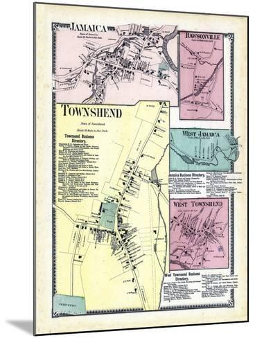 1869, Jamaica, Rawsonville, Townshend Town, Jamaica West, Townshend West, Vermont, United States--Mounted Giclee Print