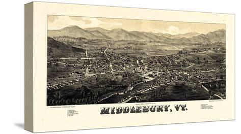 1886, Middlebury 1886c Bird's Eye View, Vermont, United States--Stretched Canvas Print