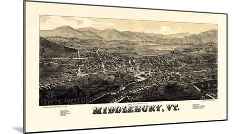 1886, Middlebury 1886c Bird's Eye View, Vermont, United States--Mounted Giclee Print