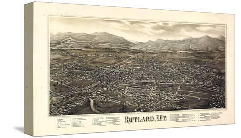 1885, Rutland Bird's Eye View, Vermont, United States--Stretched Canvas Print