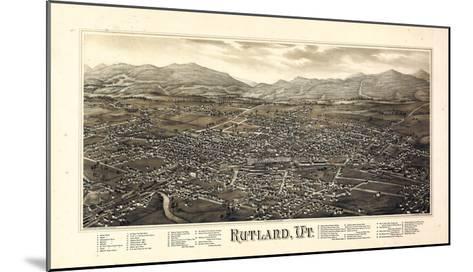 1885, Rutland Bird's Eye View, Vermont, United States--Mounted Giclee Print