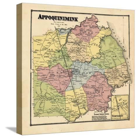1868, Appoquinimink, Townsend, Delaware, United States--Stretched Canvas Print