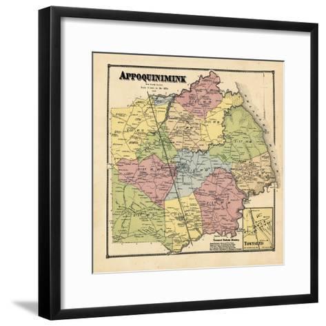 1868, Appoquinimink, Townsend, Delaware, United States--Framed Art Print