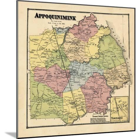 1868, Appoquinimink, Townsend, Delaware, United States--Mounted Giclee Print