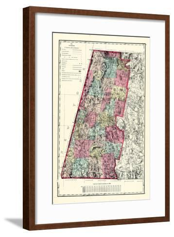 1871, Berkshire County, Massachusetts, United States--Framed Art Print