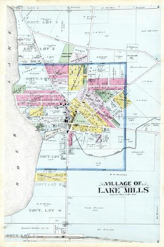 1899, Lake Mills Village, Wisconsin, United States--Stretched Canvas Print