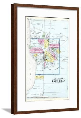 1899, Lake Mills Village, Wisconsin, United States--Framed Art Print