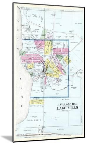 1899, Lake Mills Village, Wisconsin, United States--Mounted Giclee Print